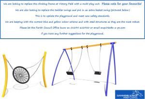 Vote for new play equipment at Victory Field