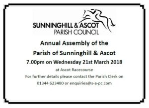 Parish Annual Assembly, 21 March 2018