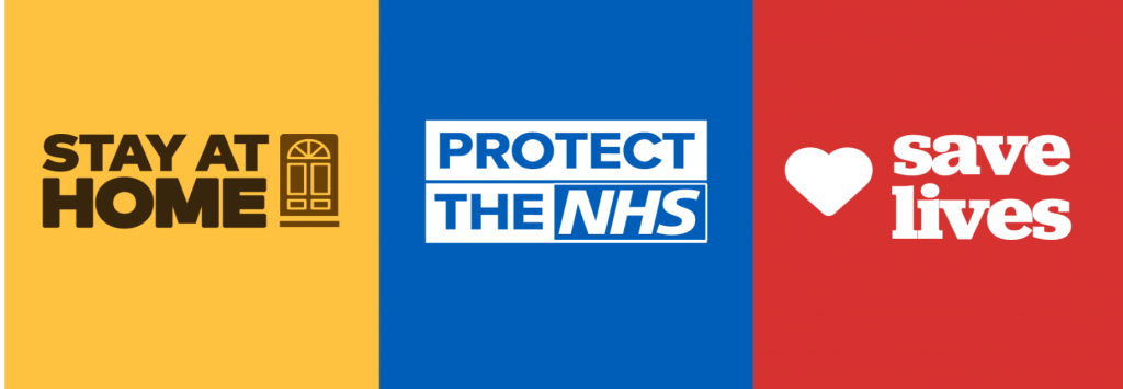 Stay Home, Protect NHS, Save Lives Sign