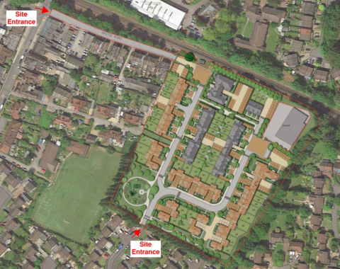 Former Sunninghill Gas Works proposed layout