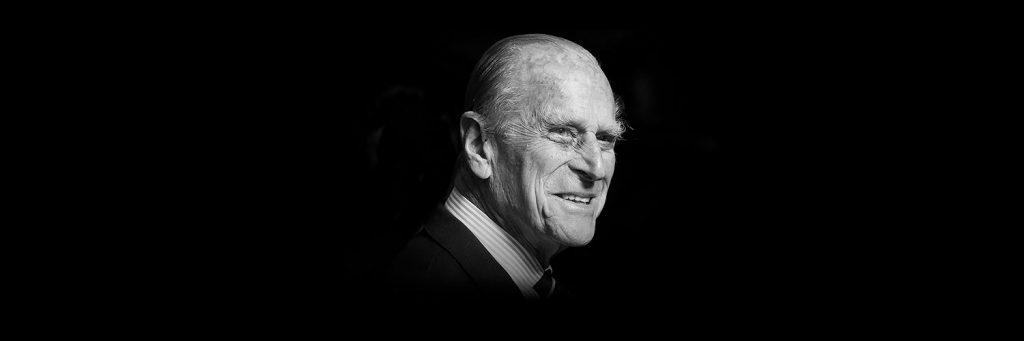 Black and white Image of Prince Philip