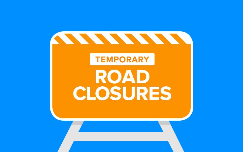Temporary Road Closure blue